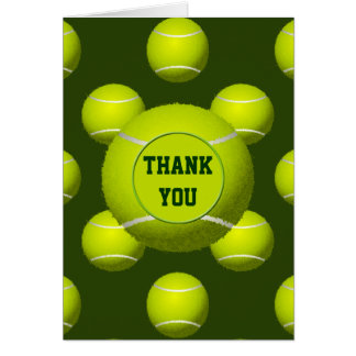 Sports Party Tennis theme Personalized Thank You Note Card