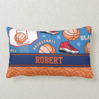 SPORTS Personalize Name Basketball Fan Fun Pattern Lumbar Cushion