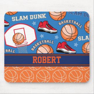 SPORTS Personalize Name Basketball Fan Fun Pattern Mouse Mat