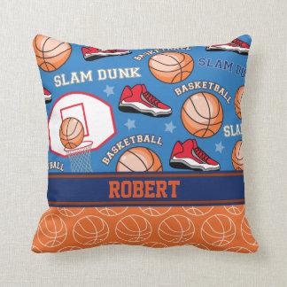 SPORTS Personalized Name Basketball Fan Pattern Cushion