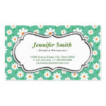 Sports Physician - Elegant Green Daisy Pack Of Standard Business Cards