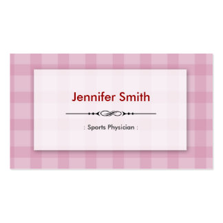 Sports Physician - Pretty Pink Squares Business Card Template