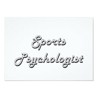 Sports Psychologist Classic Job Design 5x7 Paper Invitation Card
