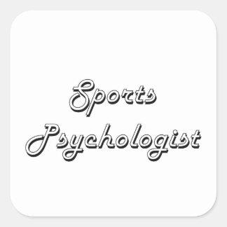 Sports Psychologist Classic Job Design Square Sticker