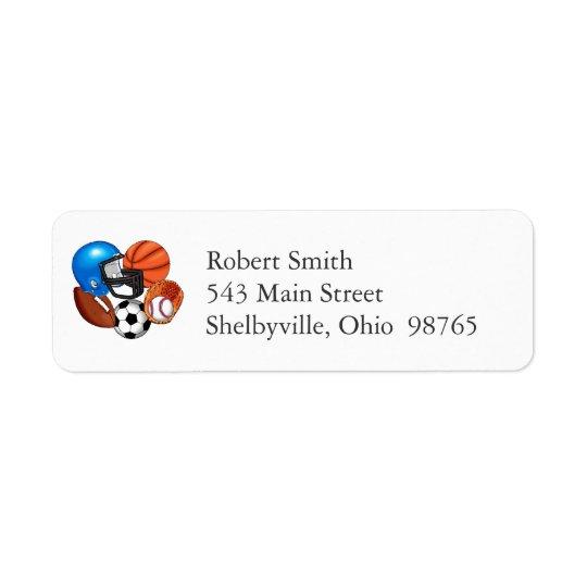 Sports Return Address Labels