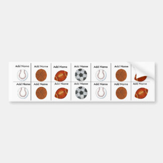Sports Sippy Cup Labels Bumper Stickers