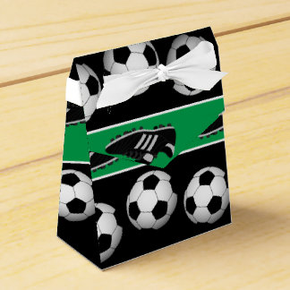 Sports soccer ball shoes pattern party box