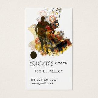 Sports Soccer Running Ball Urban Vector Business Card