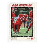 Sports Star Bar Mitzvah Invitation, Red