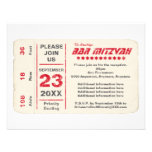 Sports Star Bar Mitzvah Reception Card, Red Invitations