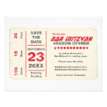 Sports Star Bar Mitzvah Save the Date Card, Red