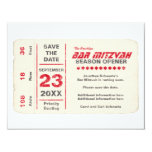 Sports Star Bar Mitzvah Save the Date Card, Red 11 Cm X 14 Cm Invitation Card