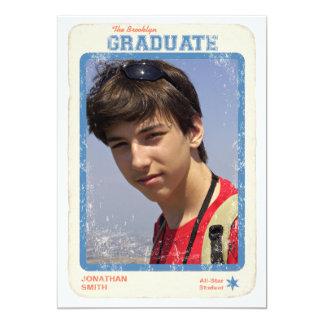 Sports Star Graduation 13 Cm X 18 Cm Invitation Card