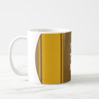 SPORTS STRIPES - Dark Yellow + your text Basic White Mug