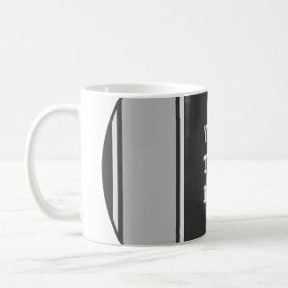 SPORTS STRIPES - Grey + your text Basic White Mug