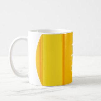 SPORTS STRIPES - Orange Yellow + your text Basic White Mug