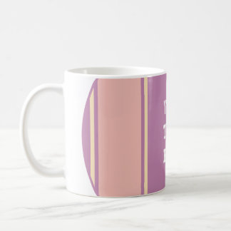 SPORTS STRIPES - Pastel Violet Yellow + your text Basic White Mug