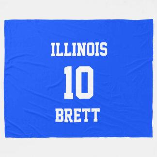 Sports Team Customized Brilliant Blue Fleece Blanket