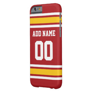 Sports Team Football Jersey Custom Name Number Barely There iPhone 6 Case