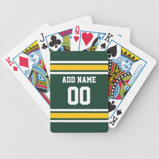 Sports Team Football Jersey Custom Name Number Bicycle Playing Cards