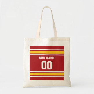 Sports Team Football Jersey Custom Name Number Budget Tote Bag