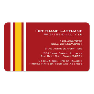 Sports Team Football Jersey Custom Name Number Business Card Template