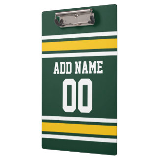 Sports Team Football Jersey Custom Name Number Clipboard