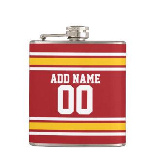 Sports Team Football Jersey Custom Name Number Hip Flask