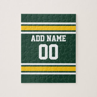 Sports Team Football Jersey Custom Name Number Jigsaw Puzzle