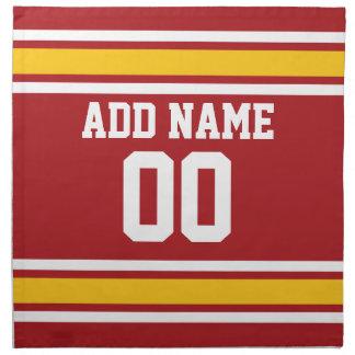 Sports Team Football Jersey Custom Name Number Napkin