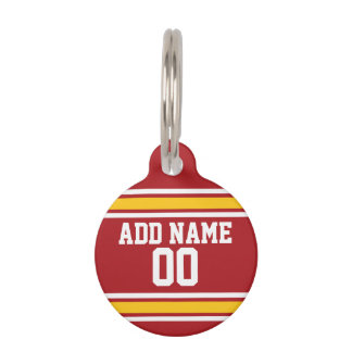 Sports Team Football Jersey Custom Name Number Pet Tags