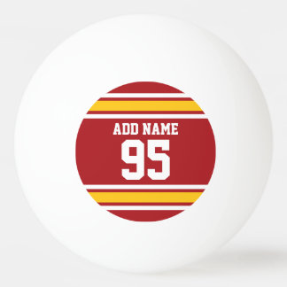 Sports Team Football Jersey Custom Name Number Ping Pong Ball