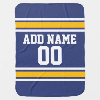 Sports Team Jersey with Custom Name and Number Baby Blanket