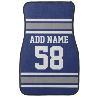 Sports Team Jersey with Custom Name and Number Car Mat
