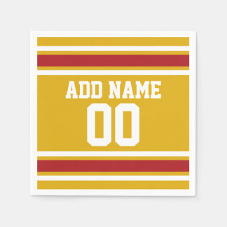 Sports Team Jersey with Custom Name and Number Disposable Napkins