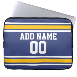 Sports Team Jersey with Custom Name and Number Laptop Sleeve