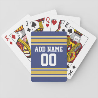 Sports Team Jersey with Custom Name and Number Playing Cards