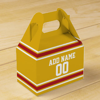 Sports Team Jersey with Custom Name and Number Wedding Favour Boxes
