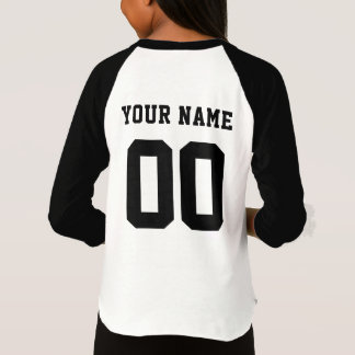 Sports Team Name with Name and Number T-Shirt