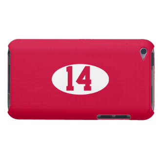 Sports team player number on custom color iPod Case-Mate cases