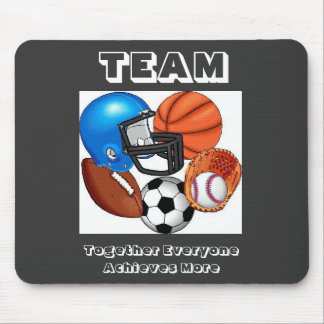 SPORTS, TEAM, Together Everyone Achieves...Mouse P Mouse Mat