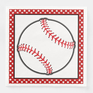 Sports Theme   Baseball Theme Paper Napkin