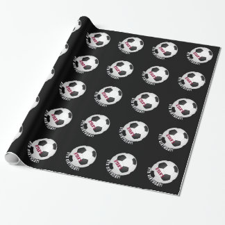 Sports Theme | Soccer Birthday Personalized Name Wrapping Paper