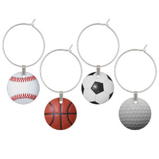 Sports Theme Sports Fans Adult Party Ideas Wine Glass Charms