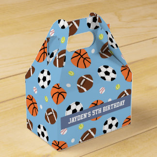 Sports Themed Boys Birthday Party Supplies Favour Box