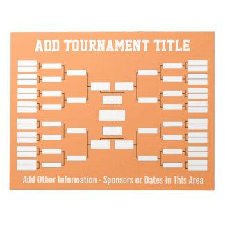 Sports Tournament Bracket Notepad