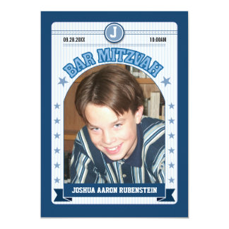 Sports Trading Card Bar Mitzvah 13 Cm X 18 Cm Invitation Card