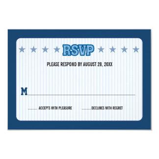 Sports Trading Card Bar Mitzvah Reply RSVP 9 Cm X 13 Cm Invitation Card