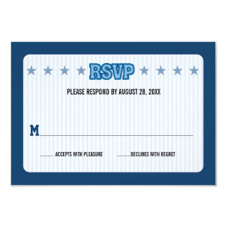 "Sports Trading Card Bar Mitzvah Reply RSVP 3.5"" X 5"" Invitation Card"