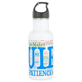 Sports Water Bottle,Wordart_Cloud_Serenity_2.png 532 Ml Water Bottle
